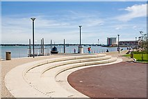 SU4208 : Steps along The Promenade, Hythe by Peter Facey