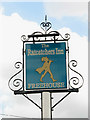 TG1422 : Pub Sign, The Ratcatchers Inn by Evelyn Simak