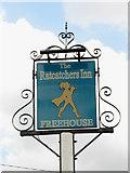 TG1422 : Pub Sign, The Ratcatchers Inn by Evelyn Simak