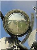 NZ4057 : Crane Sculpture by River Wear mirror image by rob bishop