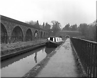 SJ2837 : Crossing Chirk Aqueduct, Llangollen Canal by Dr Neil Clifton