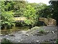 SX4970 : Footbridge across the River Walkham, near Grenofen by Brian