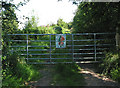 SO6821 : Gated entrance to private woodland. by Pauline E