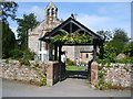 SD1096 : Lychgate, St Michael and All Angels Church, Muncaster by Alexander P Kapp