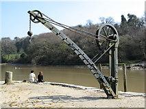 SX4268 : Crane at Cotehele Quay by Brian