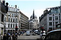 TQ3181 : View up Ludgate Hill from Fleet Street by Dr Neil Clifton