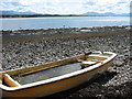 SH4563 : Water-filled boat on the beach by Eric Jones