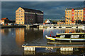 SO8218 : Gloucester Docks at Dusk by Mike Baldwin