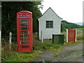 NJ6049 : Telephone Exchange & kiosk, Bridge of Marnoch by Nicholas Mutton