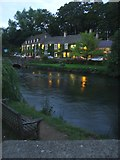 SP1106 : Swan Hotel by the River Coln by Simon Richardson