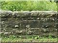 NY4971 : Inscribed stone on Kayshouseburn Bridge by Rose and Trev Clough