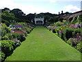SJ6780 : Arley Hall:  the herbaceous border by David Tranter