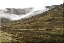 NO1481 : Low cloud in upper Glen Clunie by Mike Pennington