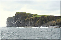 HY6101 : The Copinsay Lighthouse viewed from the northeast. by Des Colhoun