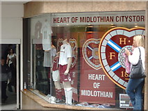 NT2574 : Heart of Midlothian Football Club store window by Darrin Antrobus