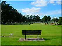 TQ3005 : Watching the Bowls, Preston Park by Simon Carey