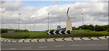 SE5209 : More roundabout art at Redhouse. by Steve  Fareham