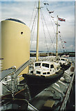NT2677 : Lifeboats on the Royal Yacht , Britannia by Carol Walker