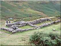 NY2101 : Hardknott Castle Roman Fort - Bathhouse by Rob Farrow