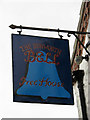 TG0735 : The Hunworth Bell - pub sign by Evelyn Simak