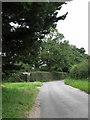 TG0438 : Approaching a junction of unclassified roads near Letheringsett by Evelyn Simak