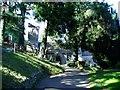 SO3700 : Llanbadoc Church by Claire Seyler