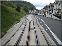 SH7782 : Passing Place on the Great Orme Tramway by David Stowell