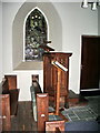 NY1717 : The Parish Church of St James, Buttermere,  Pulpit by Alexander P Kapp