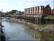 TF3243 : New houses by the River Witham, Boston by Dave Hitchborne