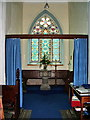NY1525 : The Parish Church of St Cuthbert, Lorton, Font by Alexander P Kapp
