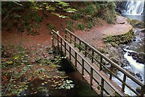 J3996 : Footbridge, Glenoe glen (2) by Albert Bridge