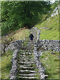 SD8964 : Steps on the Pennine Way at Malham Cove by Alexander P Kapp