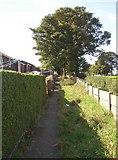 SE1321 : Path behind the houses, Sherburn Road, Rastrick by Humphrey Bolton