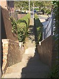 SE1321 : Steps on footpath off Thornton Road, Rastrick by Humphrey Bolton