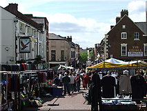 SJ2929 : Oswestry Marketplace. by Edward Williams