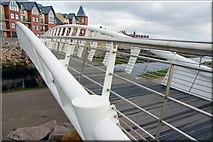 J3731 : Footbridge, Newcastle by Albert Bridge