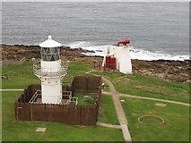 NJ9967 : New lighthouse from old, Kinnaird Head by David Hawgood
