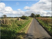 NT9058 : Minor road, Edington Hill by Richard Webb