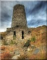 SC2776 : Windmill in South Barrule Quarry by Andy Stephenson