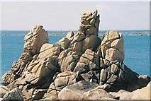 SV8707 : St. Agnes: Bishop Rock and other rocks by Chris Downer