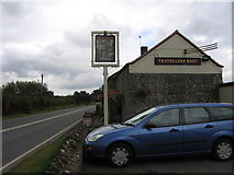 ST5834 : The Travellers Rest on the Fosse Way by Virginia Knight