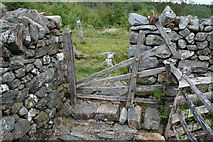 SH7123 : Stile near Cefn Coch mine by John Gibson