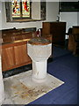NY0725 : St Oswald's Church, Dean, Font by Alexander P Kapp