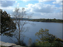 SD6212 : Rivington Reservoir from Liverpool Castle by michael ely
