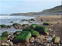 NZ8612 : Sandsend Beach by Andrew Smith
