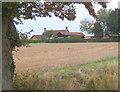 TM0664 : Farmland looking towards farmstead by Andrew Hill