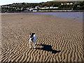 SM9538 : Goodwick sands from the eastern breakwater by ceridwen