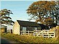 NY4675 : Stone sheds near Holywell by Rose and Trev Clough
