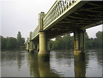 TQ1977 : River Thames: Kew Railway Bridge by Nigel Cox