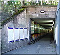 NS5567 : Hyndland railway station underpass by Thomas Nugent